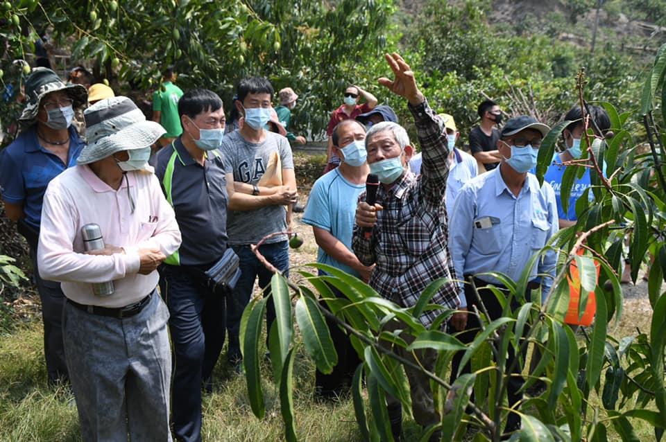 吳清進班長分享芒果灌溉經驗